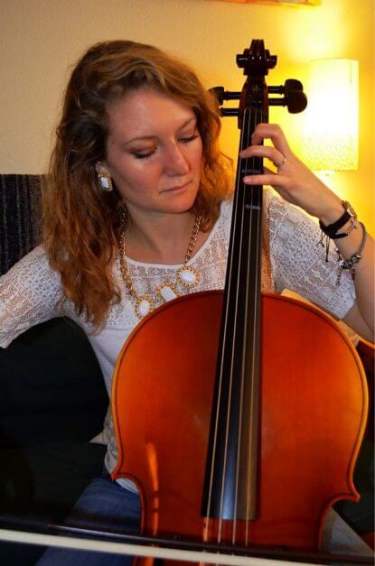 Jessica playing strings