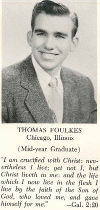 Tom Foulkes Senior Year