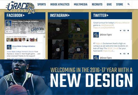 New Design for Grace Tigers website