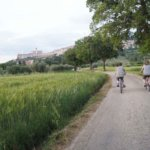 Dirt path in assisi with bikers
