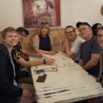 Group Eating in rome