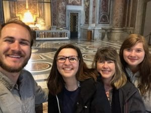 Grace students and chaperons, Rome, Italy