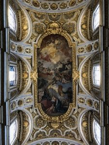 Chapel ceiling in Rome, Italy