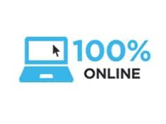100% Online Logo