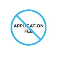 No Application Fee Logo