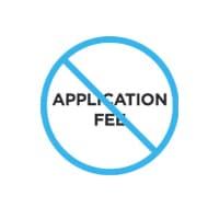 No Application Fee Logo