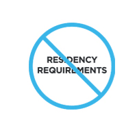 No Residency Requirements Logo