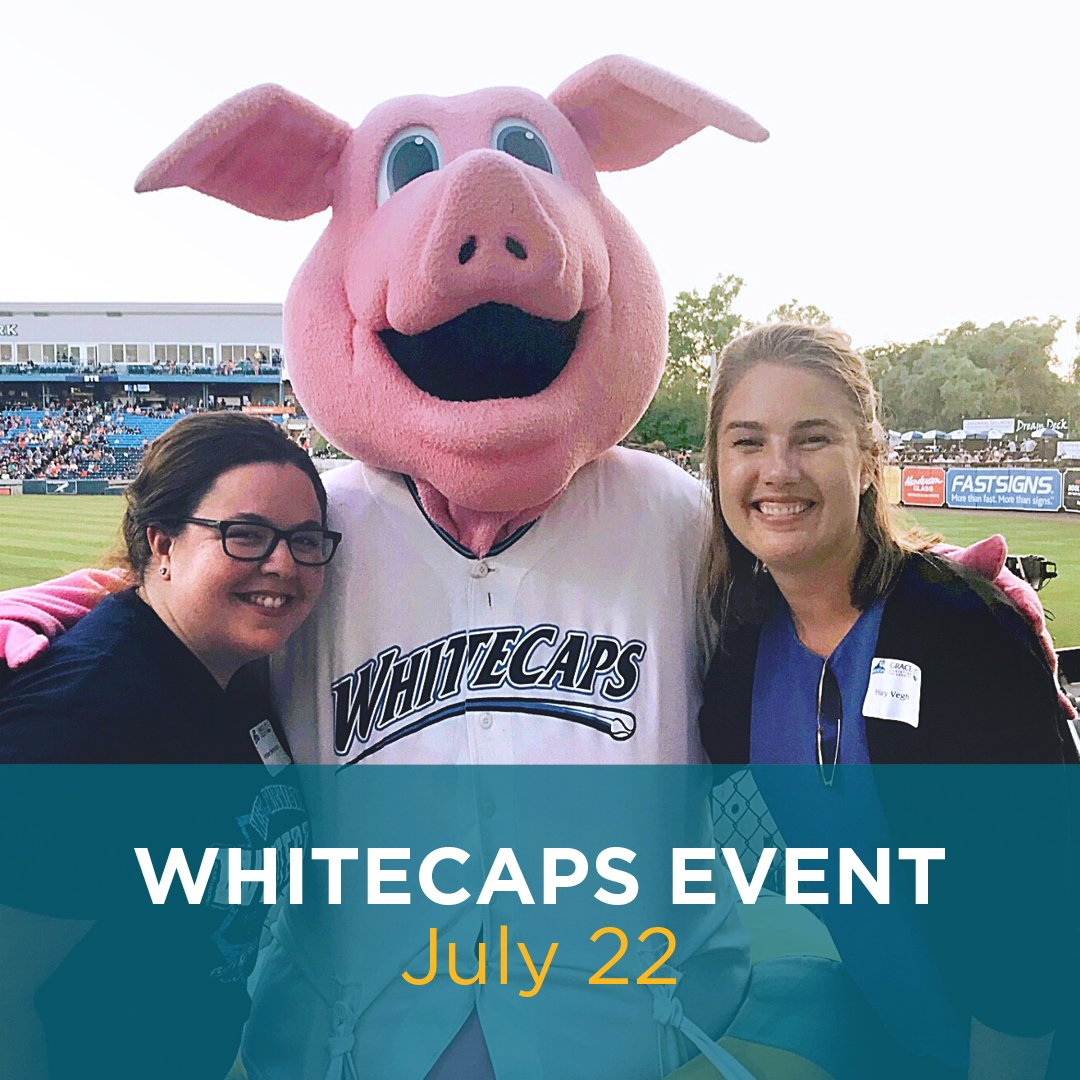 staff with Whitecaps mascot