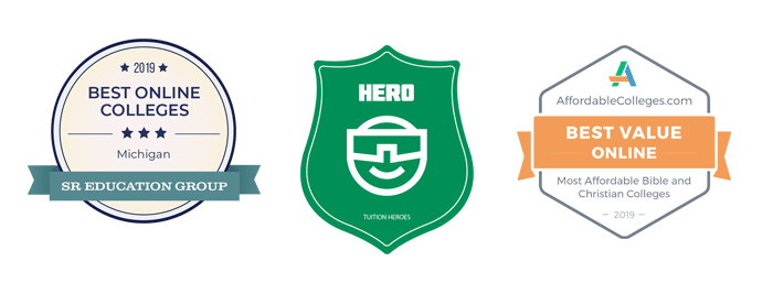 2019 award for best online colleges - Hero badge - 2019 Best Value Online Award