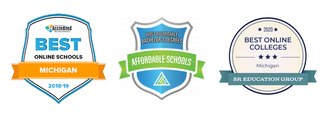 best online schools, most affordable and best online college badges